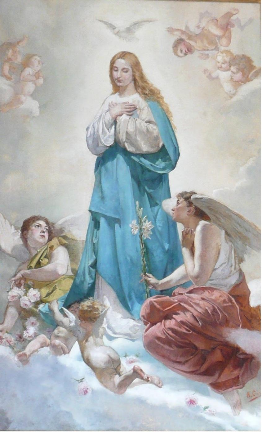 Inmaculada-Concepcion-Pareja de angeles jóvenesl