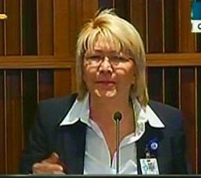 """La fiscal Luisa Ortega Díaz: Venezuela, """"Esta Constitución  es inmejorable""""."""