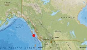 Se registró un sismo de 6.1 grados en costas deCanadá
