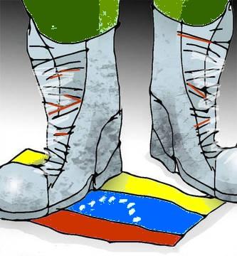 Resultado de imagen para imagen de bota de dictadura