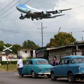 El misterio que rodea la foto del Air Force One en LaHabana