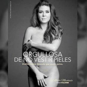 Alicia Machado: Prefiero estar desnuda que vestirpieles