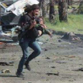Consternación de un fotógrafo ante aniquilación del Convoy Alepo en Siria.Video