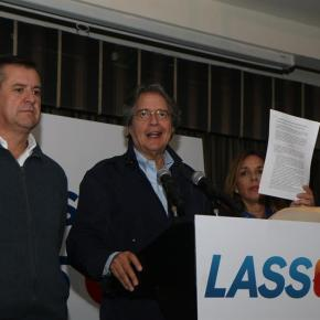 Lasso impugna los resultados enEcuador