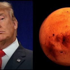 Trump quiere que un estadounidense pise Marte durante su primermandato