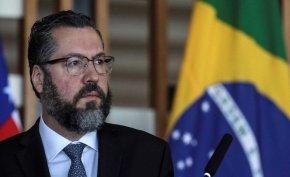 Ernesto Araújo, Canciller de Brasil y Almagro en la OEA analizan enviar ayuda humanitaria aVenezuela