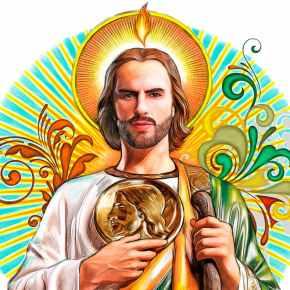 Historia de San Judas Tadeo, Apóstol de Cristo y Mártir glorioso, intercesor de causas perdidas ydifíciles.