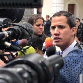 GNB impidió entrada de Guaidó al salón donde se resguarda el Acta deIndependencia