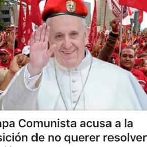 """PAPA comunista: Es """"curioso"""" que un sector de la oposición no quiera dialogo para salir de lacrisis."""